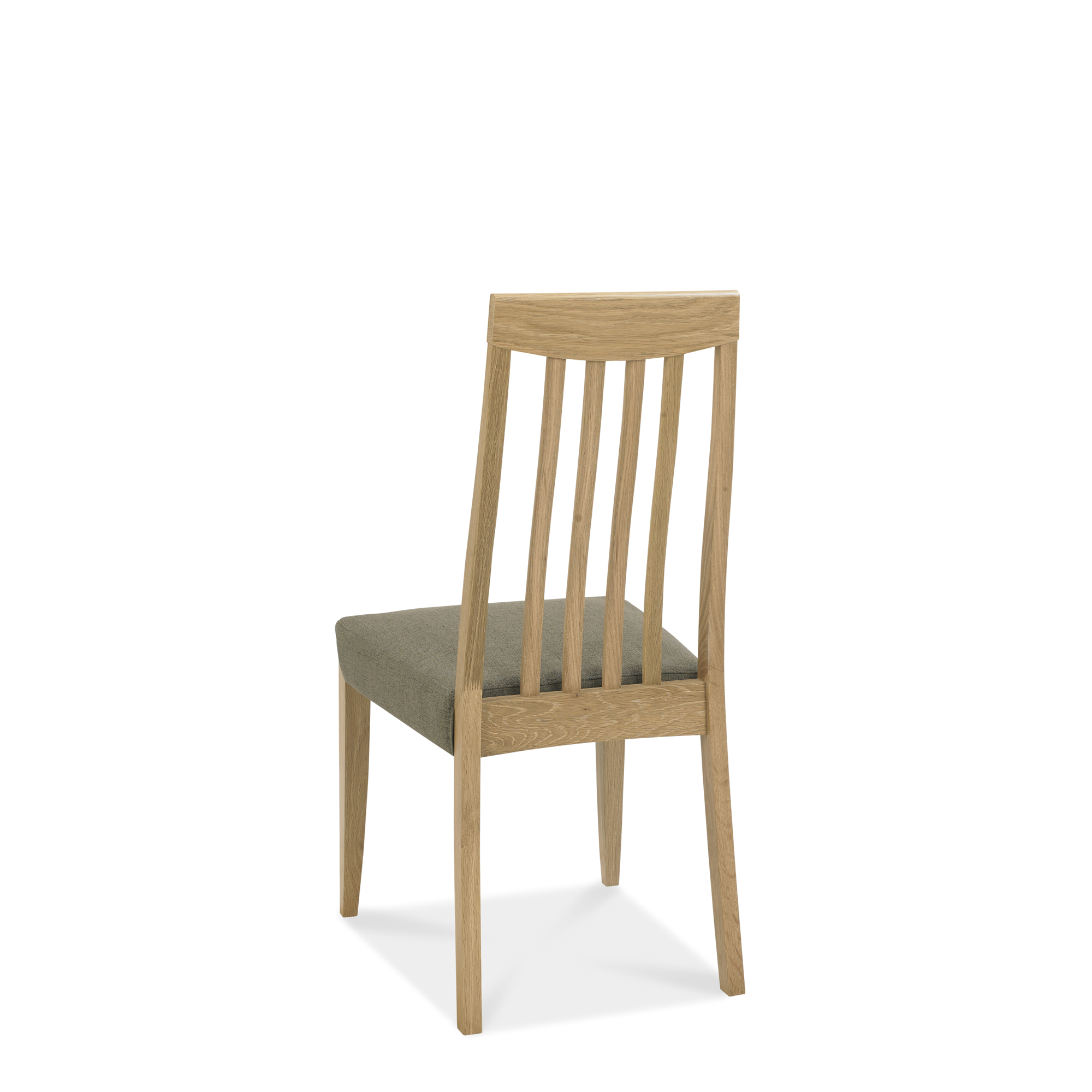 Calcot Oak - Slat Back Chair - Black Gold Fabric