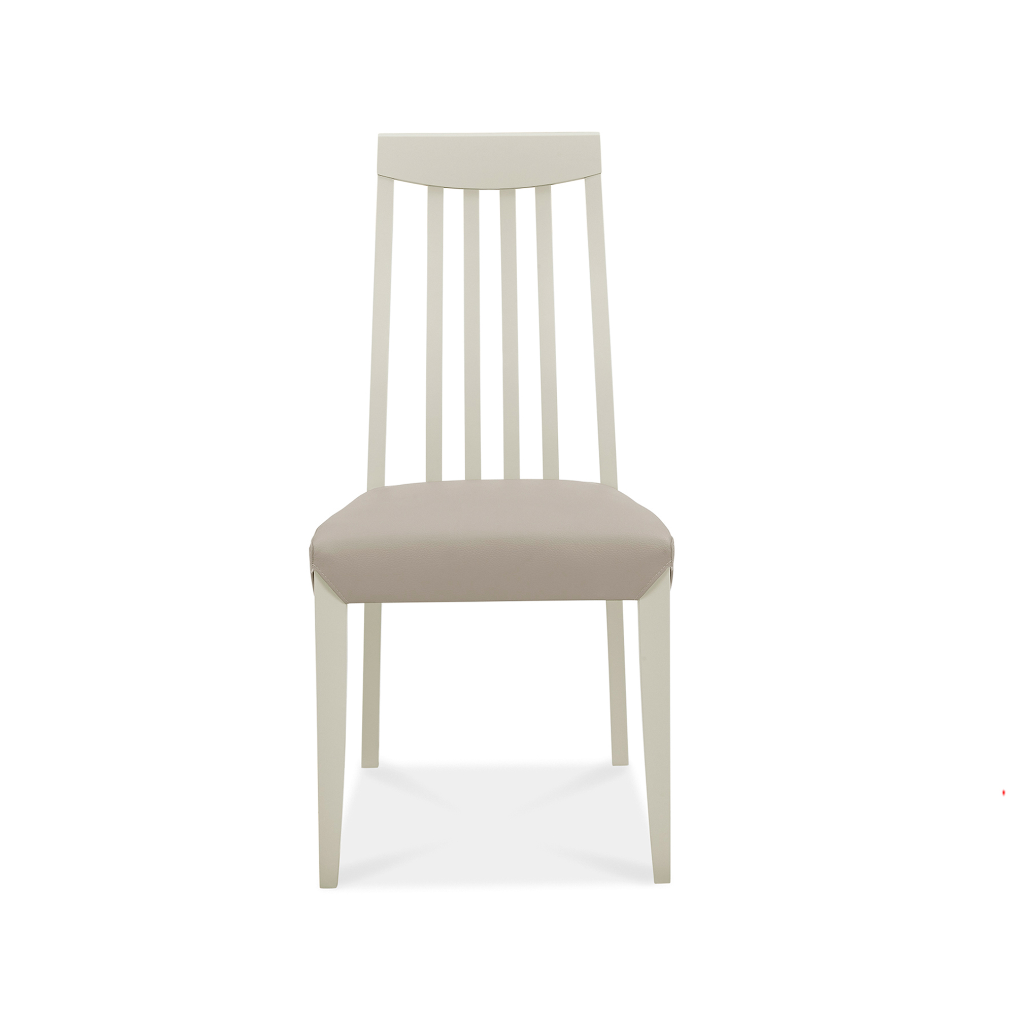 Calcot Grey – Slat Back Chair – Bonded Leather