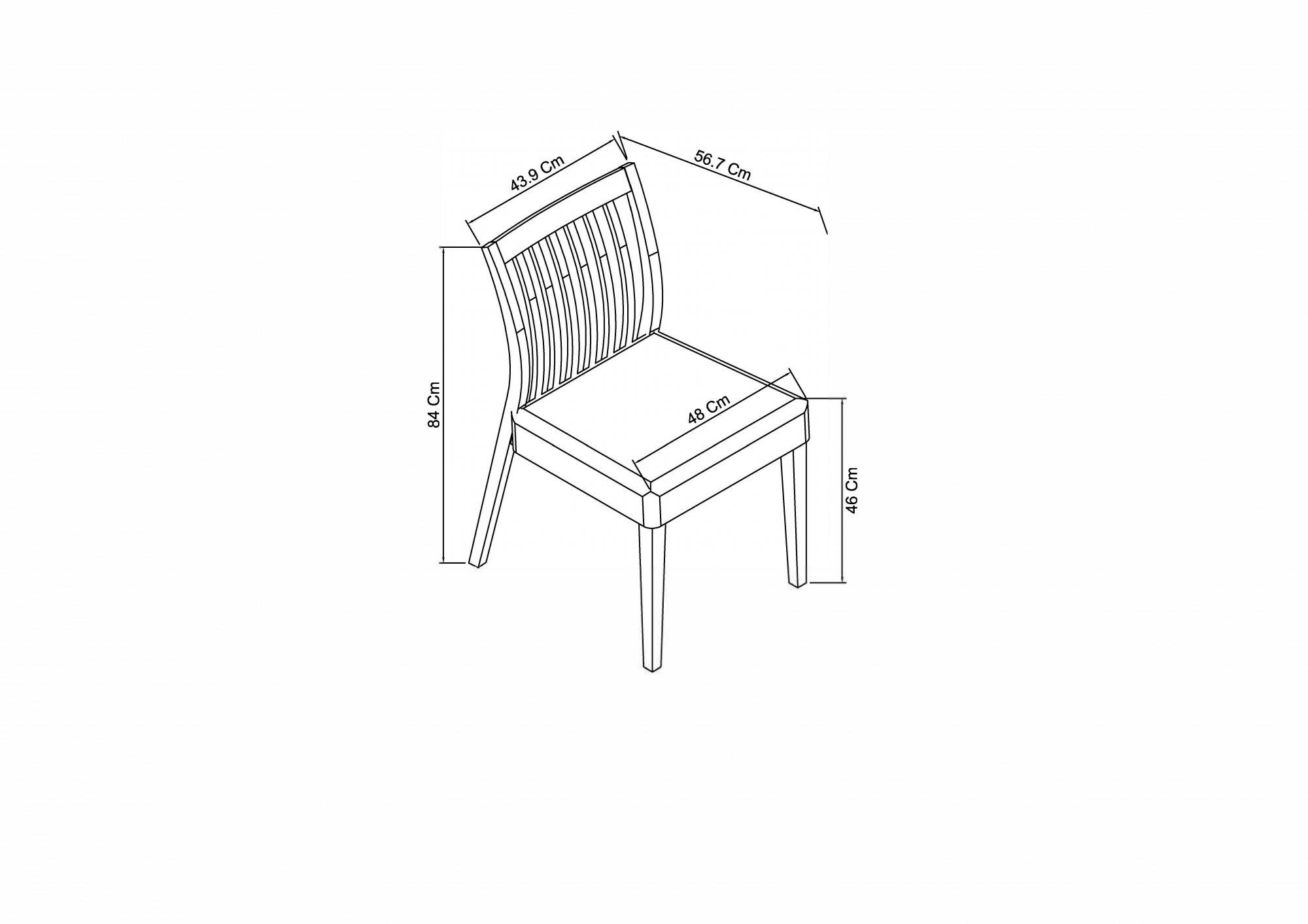 Calcot Grey – Low Slat Back Chair – Titanium Fabric
