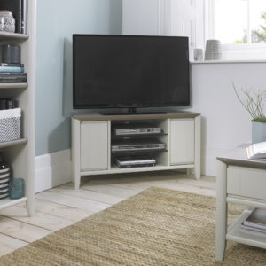 Calcot Grey - Entertainment Corner Unit