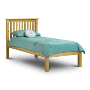 Solid Pine Slatted Bedstead - Low Foot End