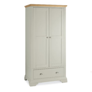 Genoa Soft Grey & Oak - Double Wardrobe