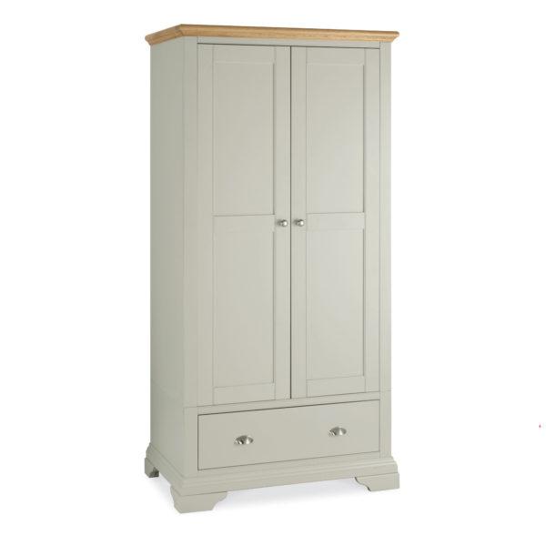 Genoa Soft Grey & Oak - Double Wardrobe