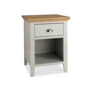 Genoa Soft Grey & Oak - One Drawer Nightstand