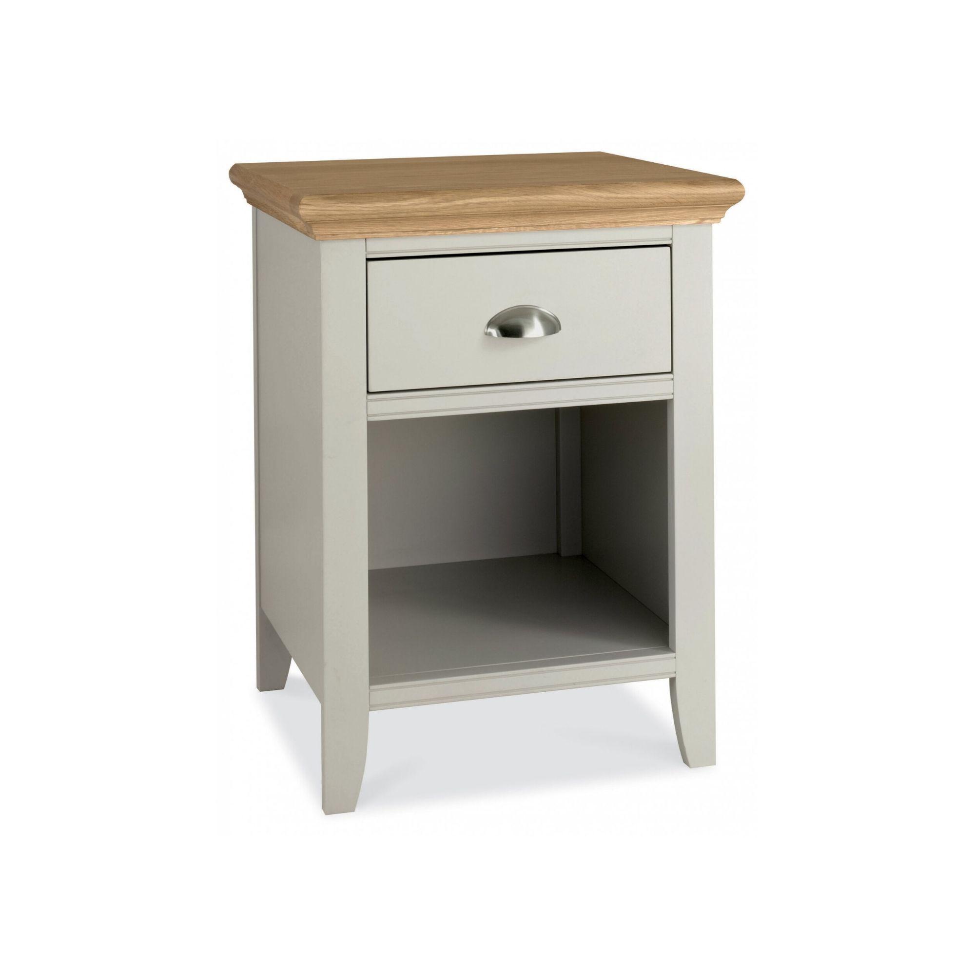 Genoa Soft Grey & Oak - One Drawer Nightstand