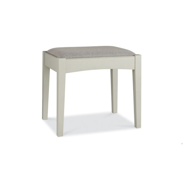 Genoa Soft Grey & Oak - Stool with Pebble Grey Fabric