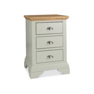 Genoa Soft Grey & Oak - Three Drawer Nightstand