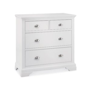 Genoa White - 2+2 Drawer Chest