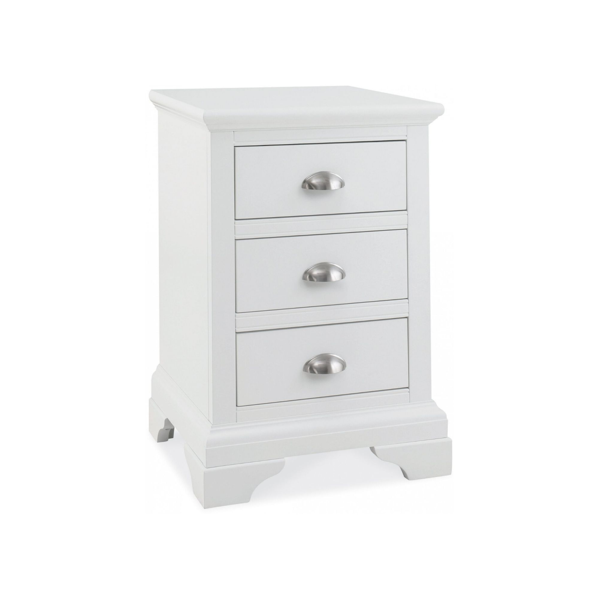 Genoa White - Three Drawer Nightstand
