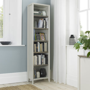 Calcot Grey - Narrow Bookcase