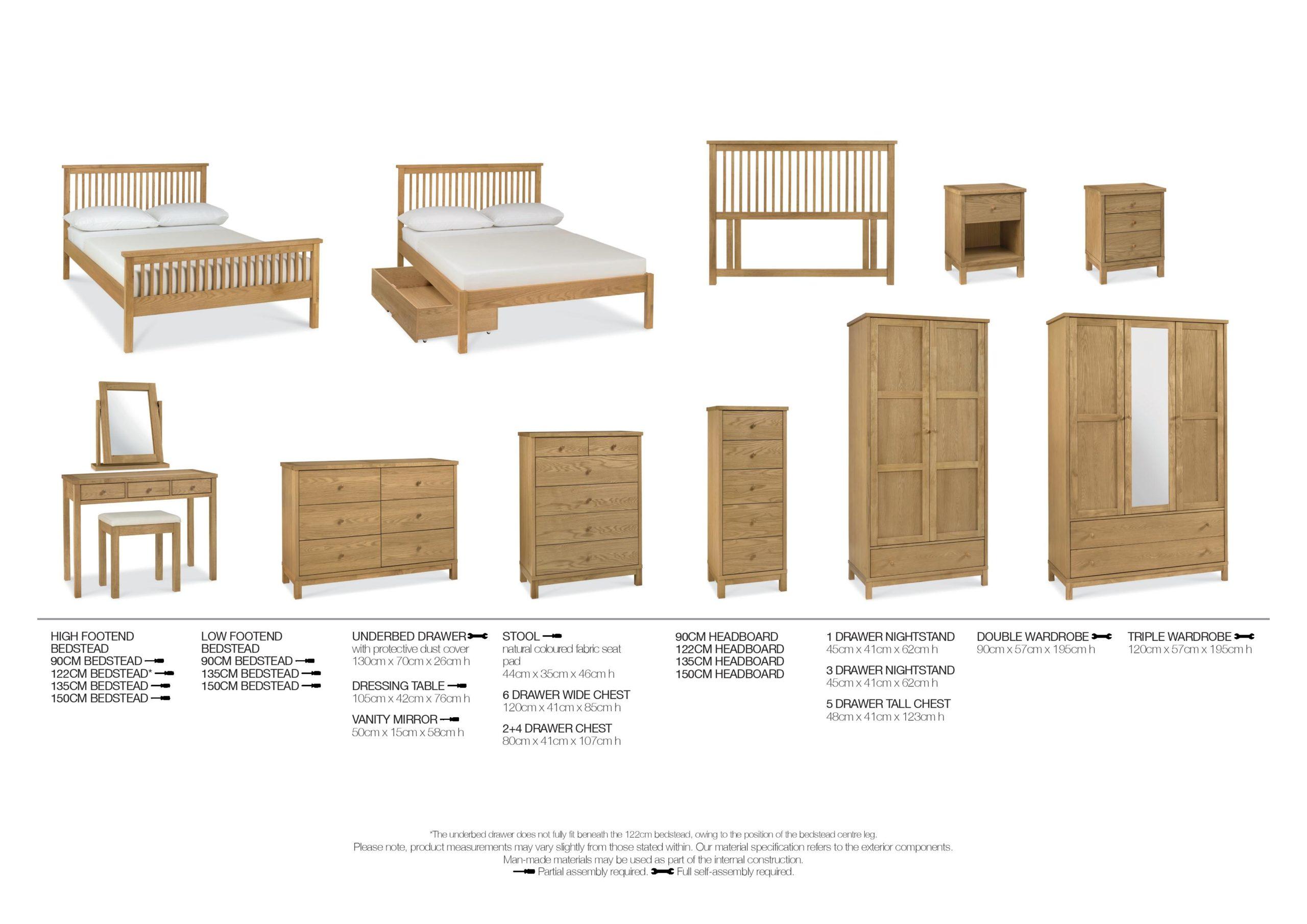 Pacific Oak Bedroom Items