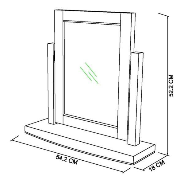 Genoa vanity mirror dimensions