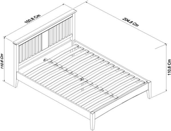 genoa bedstead double dimensions