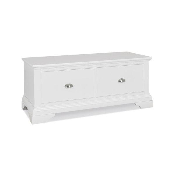 Genoa White Blanket Box